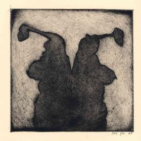 'Dames', Aquatint,1e editie, 15,5× 15,5 cm, oplage 12