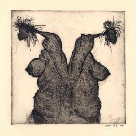'Dames', ets en aquatint, 15,5 × 15,5 cm, oplage 14