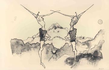 De dans, lithografie,28×36 cm, oplage 10