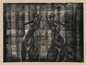 Nachtvlinders, lithografie,25×34 cm,oplage 7