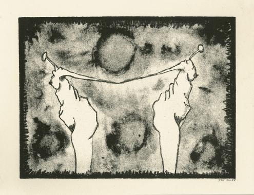 Twee dames 1lithografie,14×20 cm, oplage 10